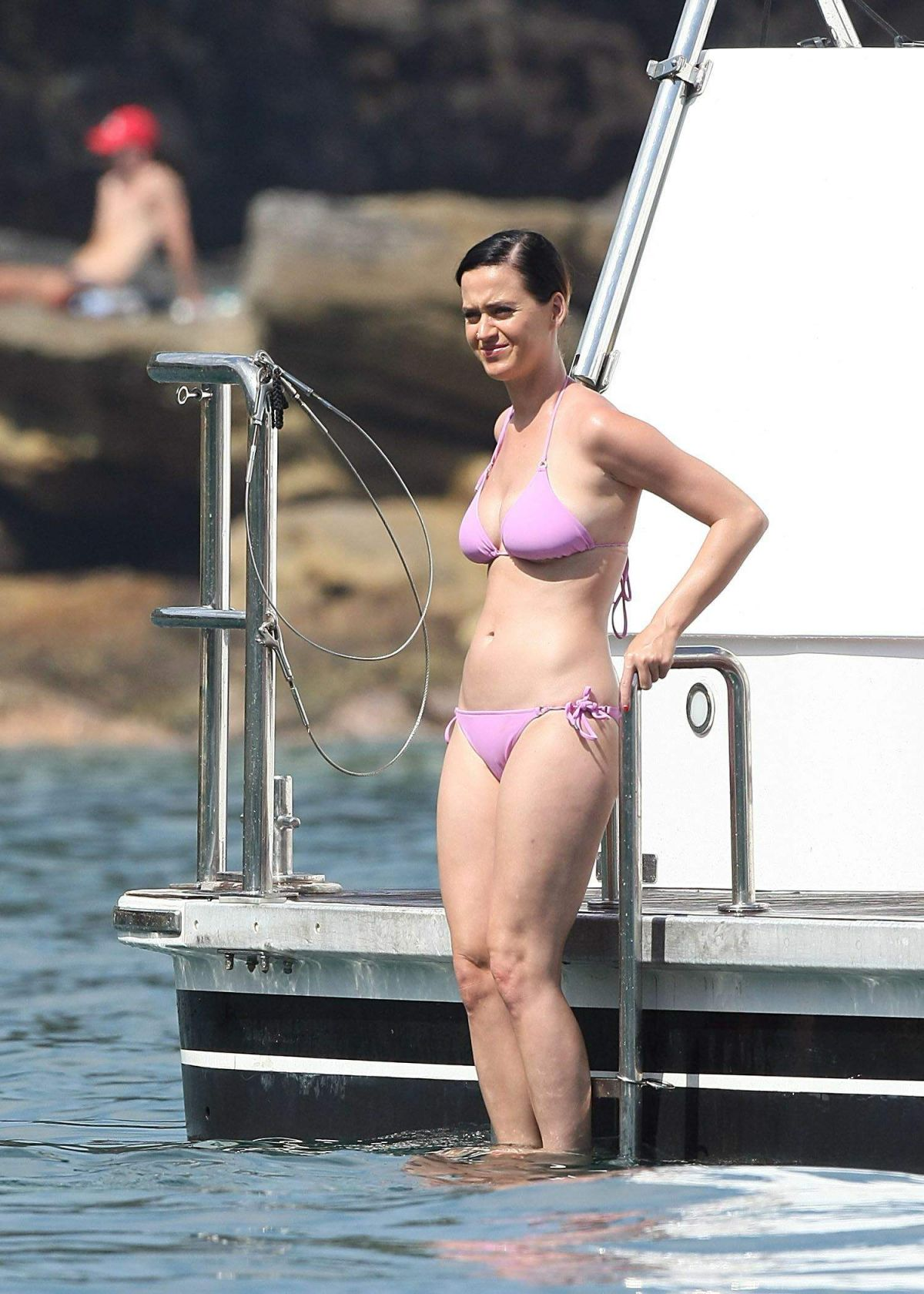 KATY PERRY in Pink Bikini at a Boat in Sydney's Harbour - HawtCelebs ...
