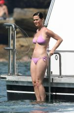 KATY PERRY in Pink Bikini at a Boat in Sydney