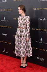 KEIRA KNIGHTLEY at The Imitation Game Premiere in New York
