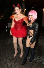 KELLY BROOK Arrives at a Halloween Party in Hollywood