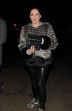 KELLY BROOK Arrives at Winter Wonderland in London