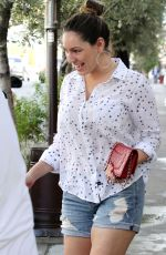 KELLY BROOK Heading to Lunch at Little Next Door in West Hollywood