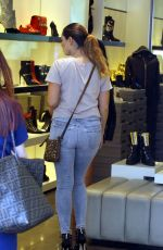 KELLY BROOK in Tgiht Jeans Out Shopping in Beverly Hills