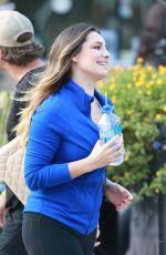 KELLY BROOK on the Set of Commercial for Skechers in Manhattan
