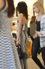 KENDALL JENNER and HAILEY BALDWIN Shopping at Barney