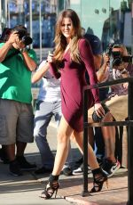 KHLOE KARDASHIAN in Short Dress Out and About in Los Angeles