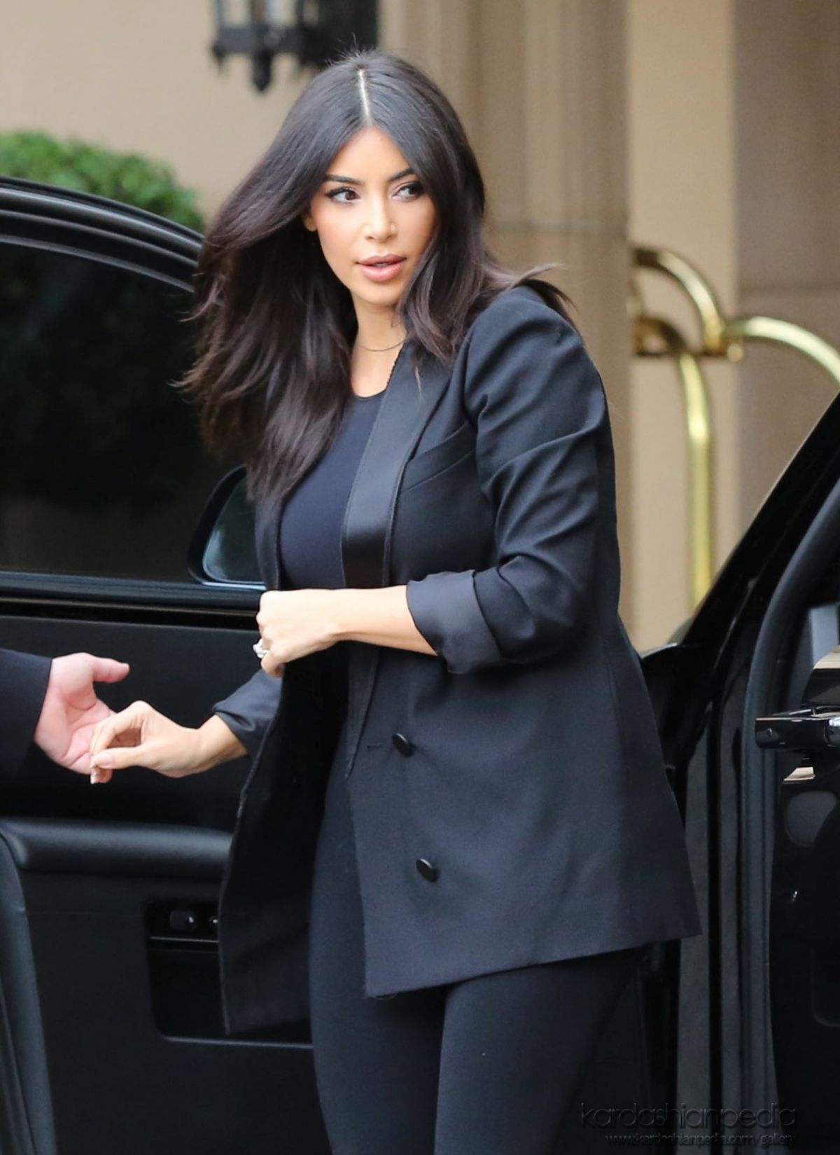 KIM KARDASHIAN Arrives at Khloe s Baby Shower in Beverly Hills