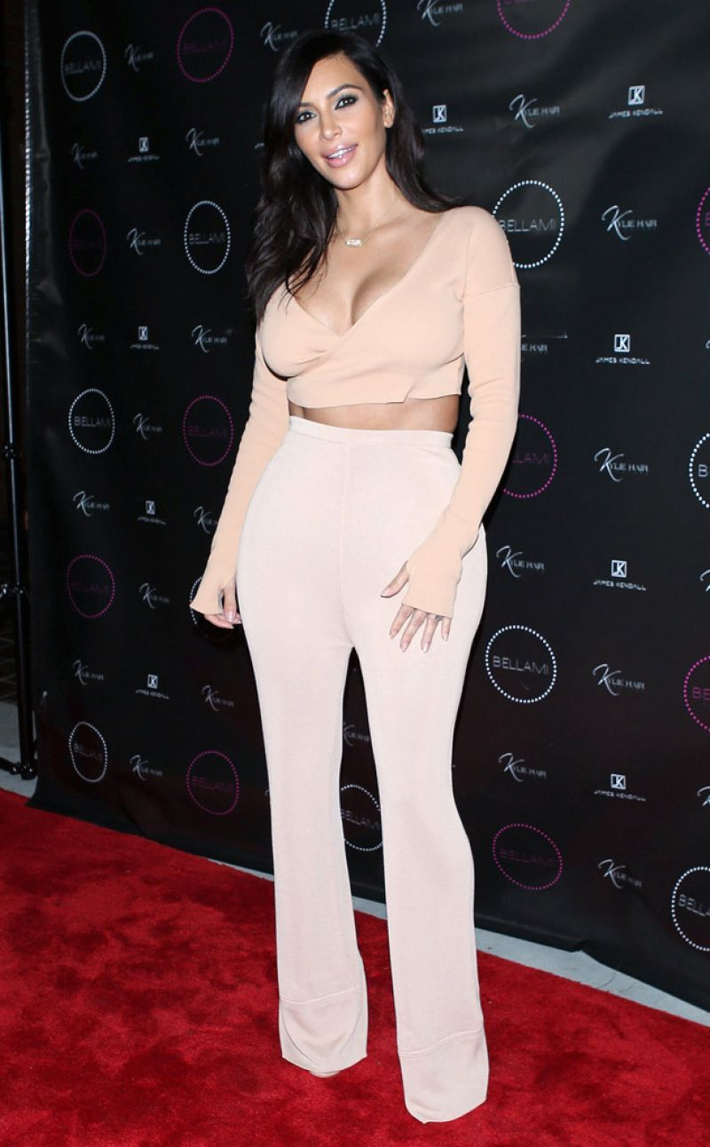 KIM KARDASHIAN at Kylie Hair Kouture Launch in Beverly Hills