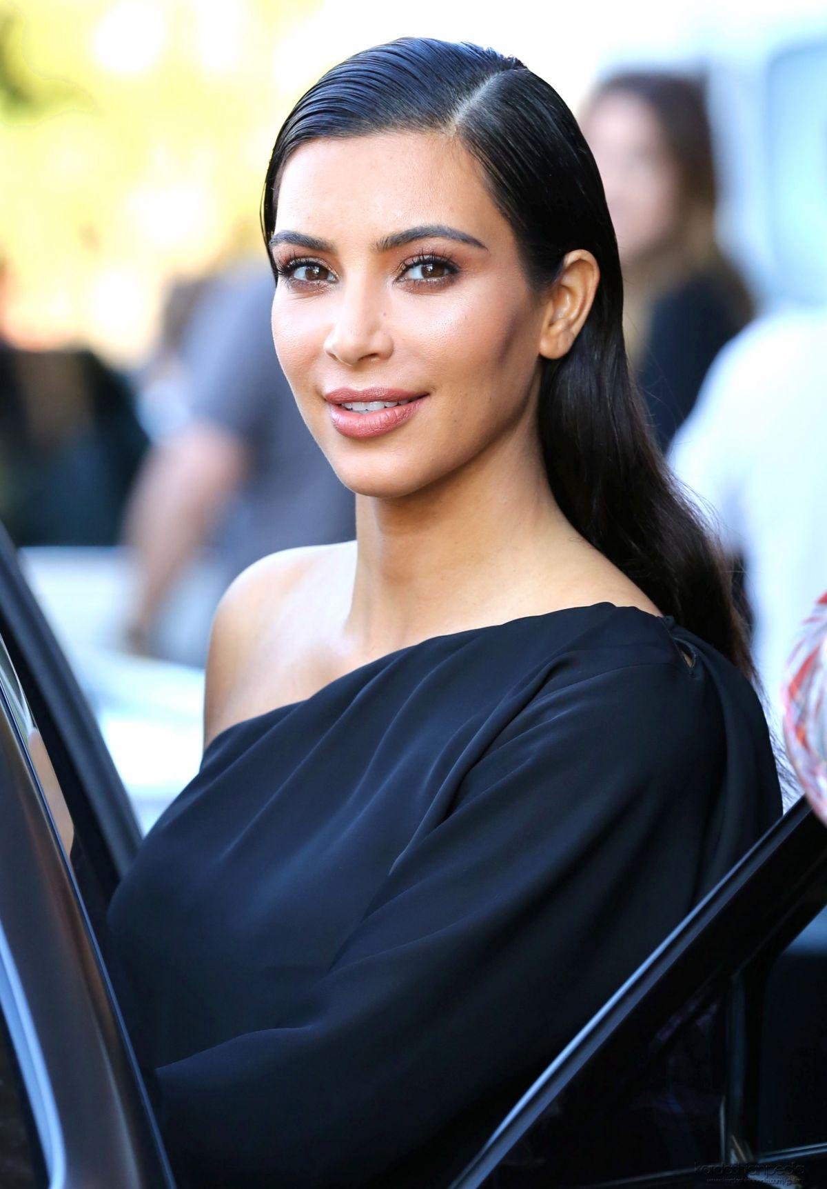 KIM KARDASHIAN Leaves a Photoshoot in Calabasas - HawtCelebs Kim Kardashian