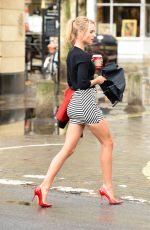 KIMBERLEY GARNER in Short Skirt Out and About in Chelsea