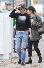 KRISTEN STEWART in Ripped Jeans Out and About in Los Angeles