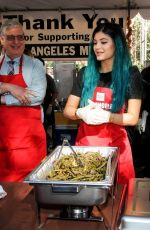 KYLIE JENNER at L.A. Mission and Anne Douglas Center