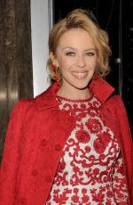KYLIE MINOGUE at Dolce & Gabbana Christmas Tree Party in London