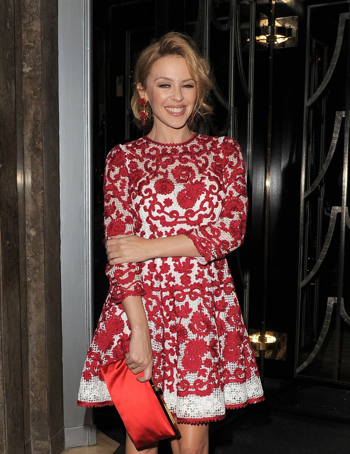 KYLIE MINOGUE At Dolce & Gabbana Christmas Tree Party In