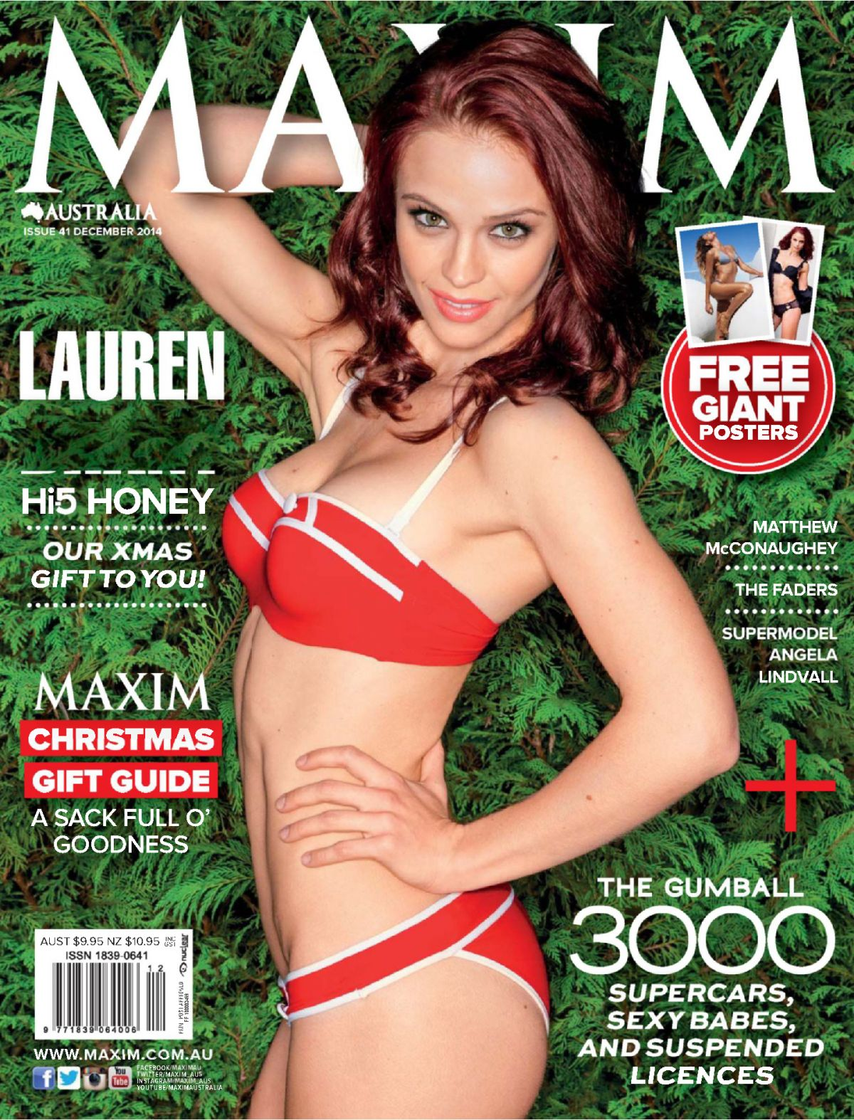 LAUREN BRANT in Maxim Magazine, Australia December 2014 Issue