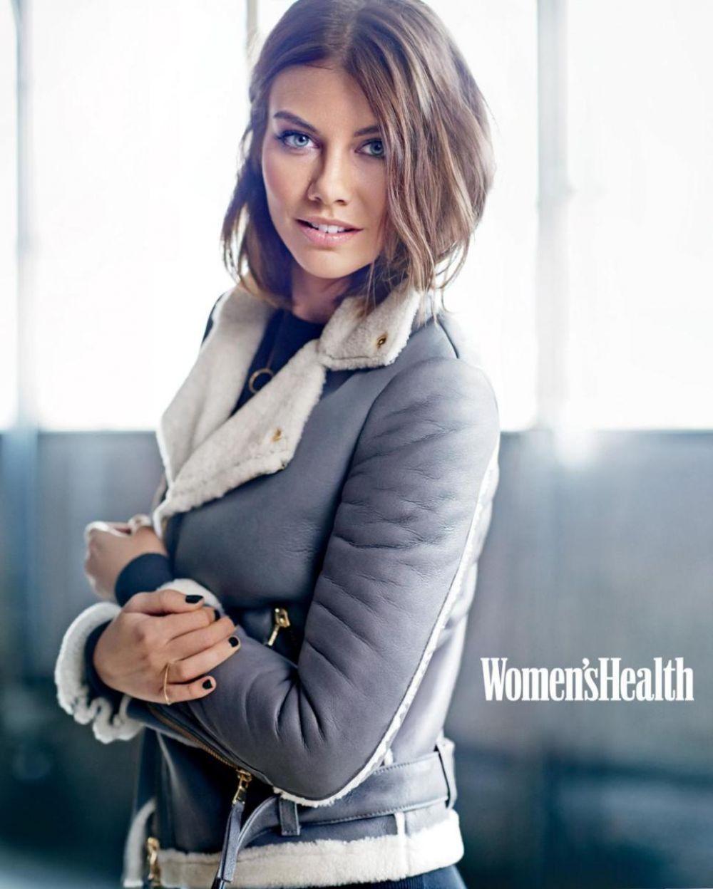 Lauren cohan in women's health magazine december 2014 issue