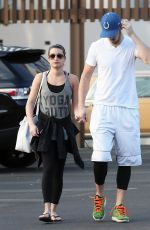 LEA MICHELE and Matthew Paetz Out and About in Los Angeles 1611