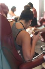 LEA MICHELE at a Nail Salon in Los Angeles 0711