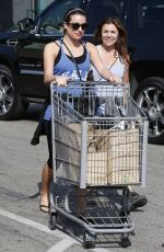 LEA MICHELE-Hiking and Shopping in Los Angeles