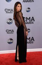 LILY ALDRIDGE at 2014 CMA Awards in Nashville