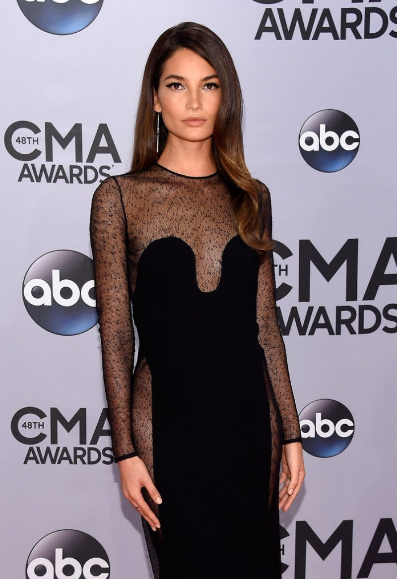 Lily Aldridge At 2014 Cma Awards In Nashville Hawtcelebs