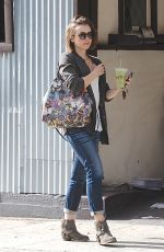 LILY COLLINS Leaves Earthbar in Los Angeles 1811