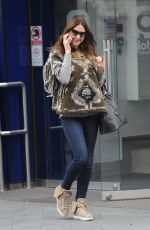 LISA SNOWDON Leaves Capital FM Studio in London 2011