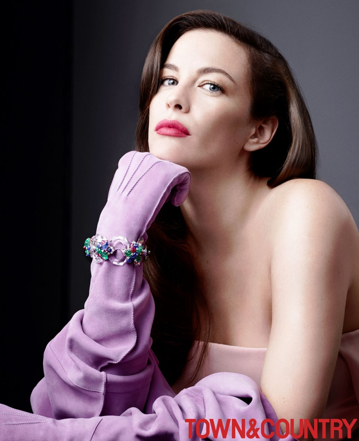 LIV TYLER in Town & Country Magazine, December/January 2014/2015 Issue