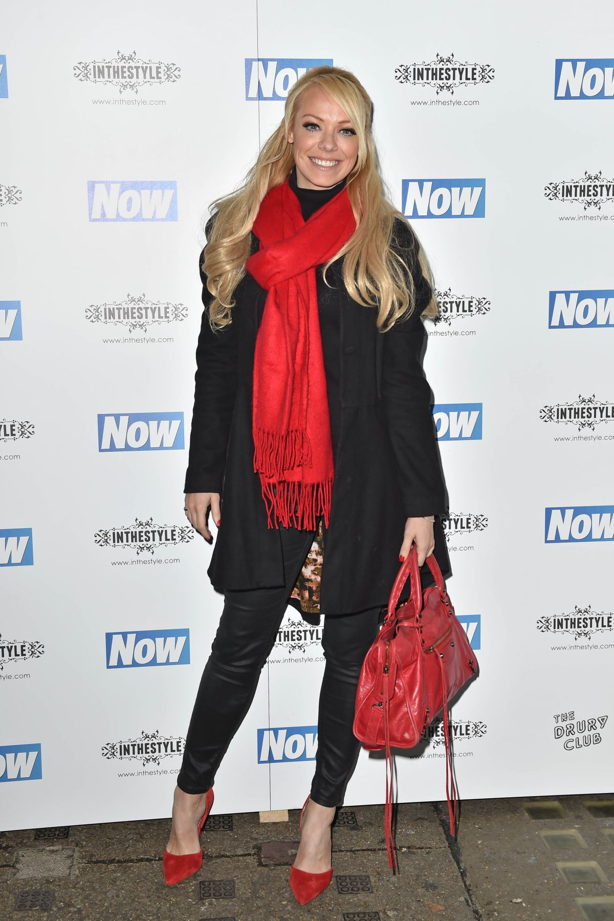 LIZ MCCLARNON at Now Christmas Party in London