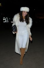 LIZZIE CUNDY Arrives at Winter Wonderland in London
