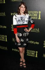 LIZZY CAPLAN at Hfpa abd Instyle Celebrate 2015 Golden Globe Award Season in Hollywood