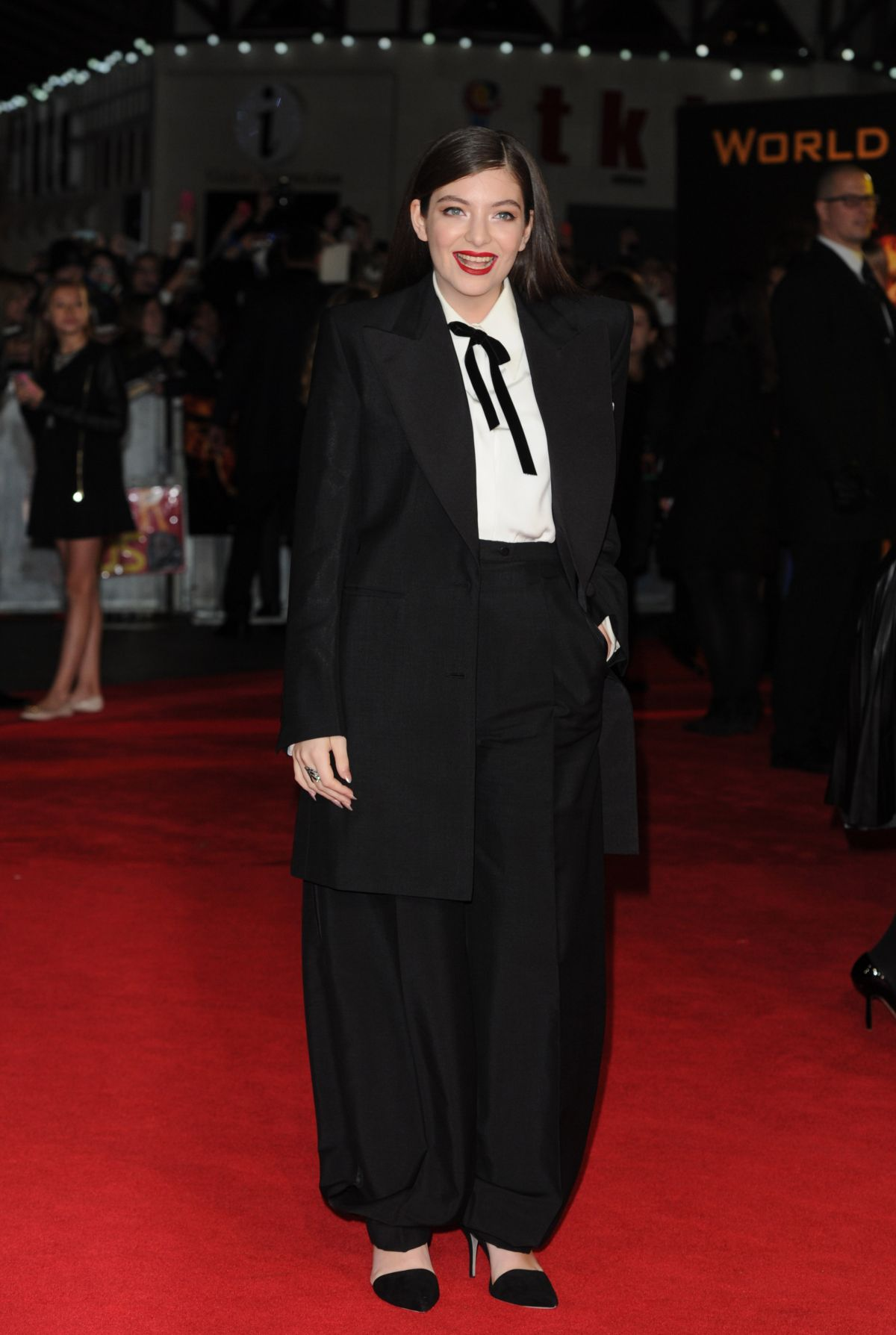 LORDE at The Hunger Games: Mockingjay Part 1 Premiere in London