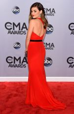 LUCY HALE at 2014 CMA Awards in Nashville