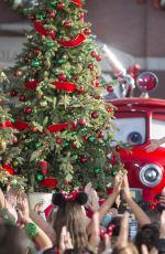 LUCY HALE at Disney Frozen Christmas Celebration in Anaheim