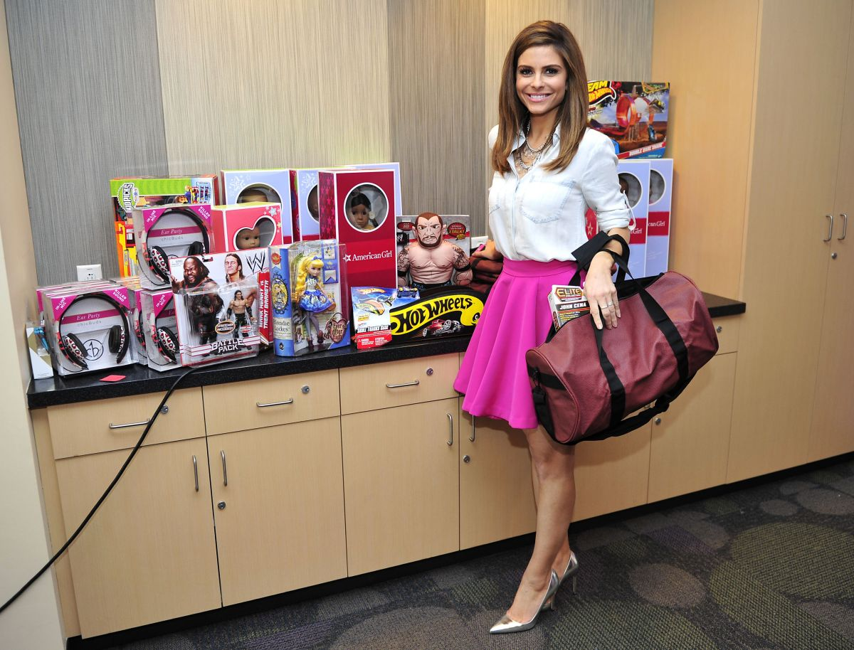 MARIA MENOUNOS at 2014 Take Action Hollywood Day of Beauty in Los Angeles