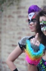 MILANA VAYNTRUB on the Set of Wrestling Isn