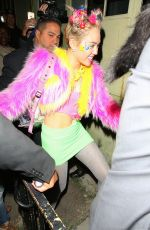 MILEY CYRUS Arrives at Factory Nightclub for Her Birthday Party