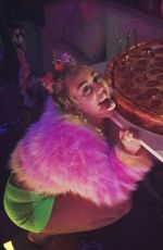 MILEY CYRUS Celebrates Her 22d Birthday at The Factory Nightclub in Hollywood
