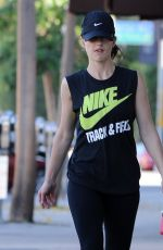 MINKA KELLY in Leggings Heading to a Gym in Los Angeles 2611