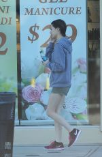 MIRANDA COSGROVE in Shorts Out and About in Los Angeles