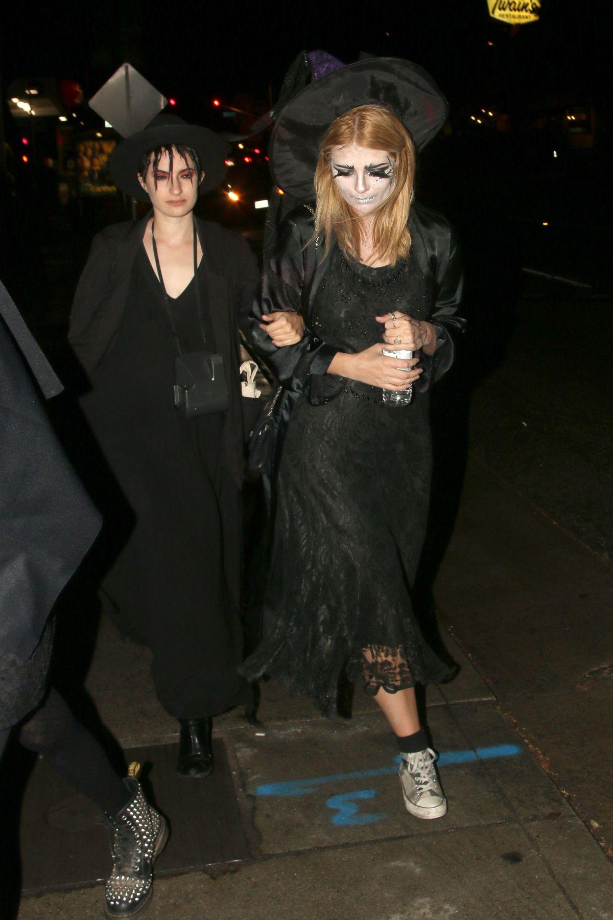 MISCHA BARTON at Adam Levine's Halloween Party in Los Angeles ...