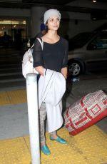 MORENA BACCARIN Arrives at Los Angeles International Airport