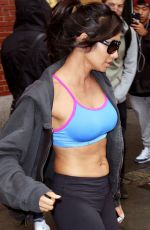 PADMA LAKSHMI in Leggings and Tank Top Heading to a Gym in New York