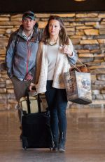 PIPPA MIDDLETON Arrives at Jackson Hole Airport in Wyoming