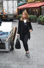 RACHEL STEVENS Arrives at at Capital FM Radio in London