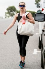 REESE WITHERSPOON at a Boxing Class in Brentwood