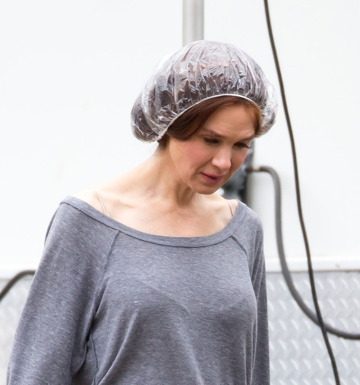 RENEE ZELLWEGER on the Set of Her New Movie in Mississippi