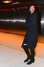 RIHANNA Arrives at Melrose Ballroom in New York