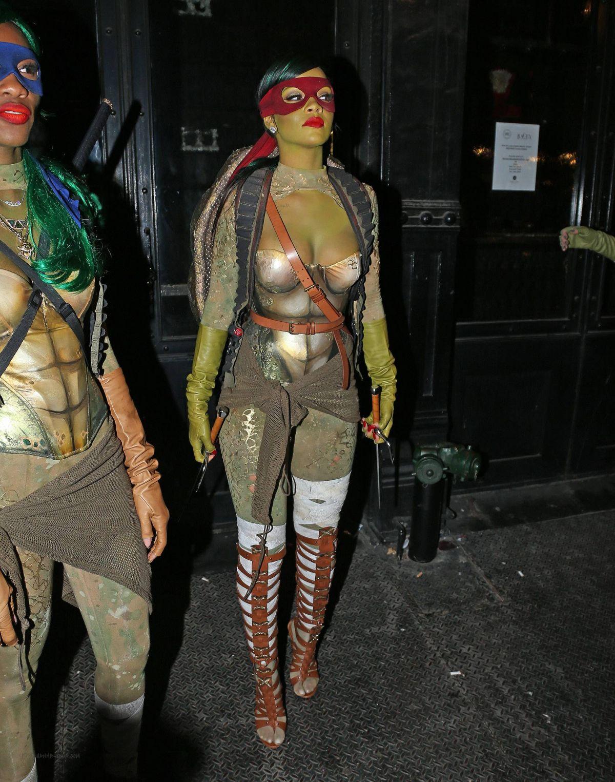 RIHANNA at Opus Nightclub Halloween Party in New York - HawtCelebs ...