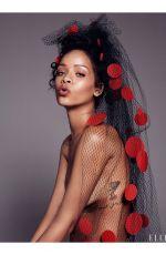 RIHANNA in Elle Magazine, December 2014 Issue